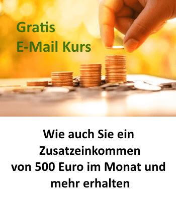 Zusatzeinkommen 500 Euro im Monat Online Kurs kostenlos